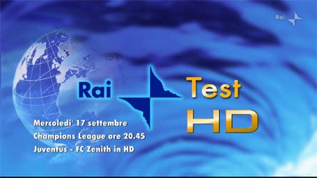 Rai Test HD - Champions League @ davidemaggio.it