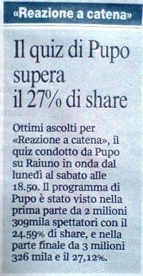 Corriere della Sera - 10 agosto 2008 @ Davide Maggio .it