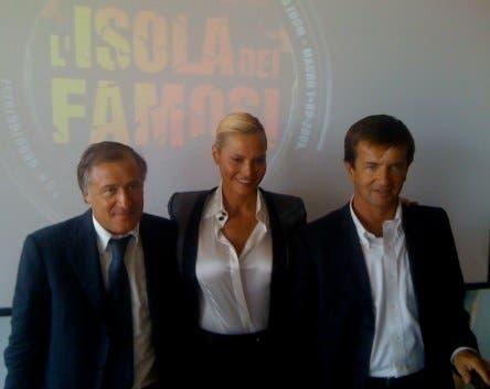 Isola dei Famosi - Antonio Marano, Simona Ventura e Giorgio Gori @ davidemaggio.it