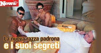 Lele Mora e l'accarezzapiedi Francesco Arca @ Davide Maggio .it