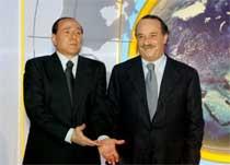 Clemente Mimun e Silvio Berlusconi @ Davide Maggio .it
