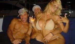 Pamela Anderson post marriage celebration @ Davide Maggio .it