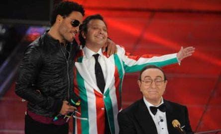Festival di Sanremo 2008 (Pippo Baudo, Piero Chiambretti, Lenny Kravitz) @ Davide Maggio .it