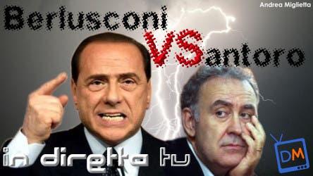 Michele Santoro VS Silvio Berlusconi @ Davide Maggio .it