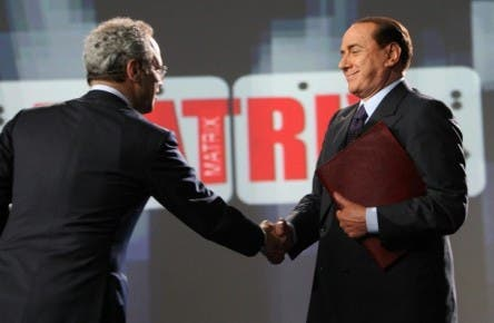 Silvio Berlusconi ed Enrico Mentana a Matrix @ Davide Maggio .it