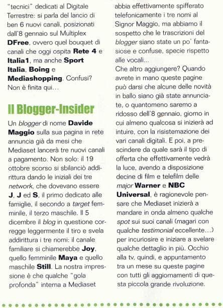 Telefilm Magazine @ Davide Maggio .it