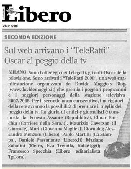 TeleRatti - Libero di Vittorio Feltri @ Davide Maggio .it