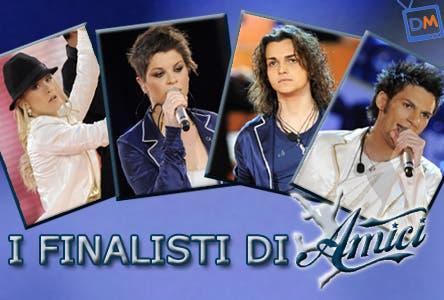 Amici 8 - Finalisti (Alessandra Amoroso, Luca Napolitano, Alice Bellagamba e Valerio Scanu)