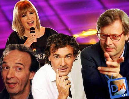 Domenica In - Iva Zanicchi, Massimo Giletti, Vittorio Sgarbi e Roberto Benigni