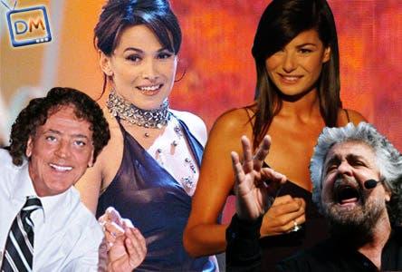 Beppe Grillo, Ilaria D'amico, Orlando Portento, Barbara D'Urso
