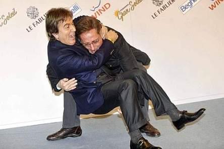 Sanremo 2009 (Paolo Bonolis e Fabrizio Del Noce)