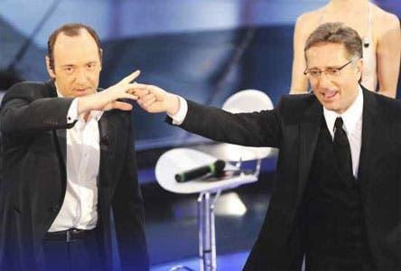Paolo Bonolis e Kevin Spacey @ Davide Maggio .it