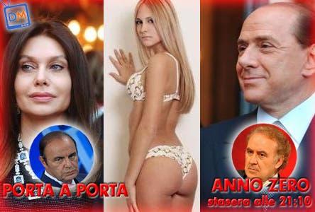 Veronica Lario, Noemi Letizia, Silvio Berlusconi, Bruno Vespa, Michele Santoro