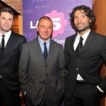Stefano Baldeschi (Channel manager La5) Massimo Donelli (Direttore Can5) Marco Costa (Vice Dir Can5)