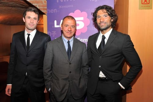 Stefano Baldeschi (Channel manager La5) Massimo Donelli (Direttore Can5) Marco Costa (Vice Dir Can5)