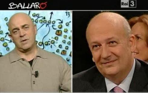 Maurizio Crozza e Sandro Bondi