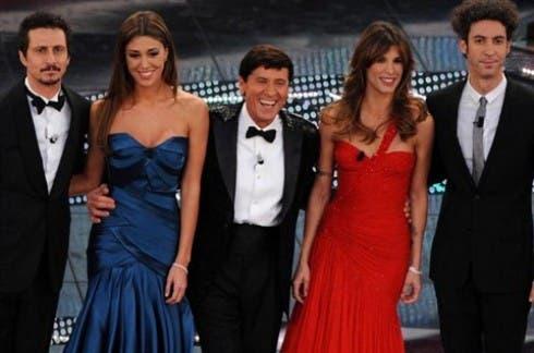 Festival di Sanremo 2011 - Gianni Morandi, Elisabetta Canalis e Belen Rodriguez nella quarta puntata