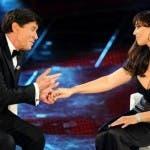 Gianni Morandi e Monica Bellucci
