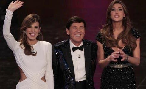 Elisabetta Canalis, Gianni Morandi e Belen Rodriguez