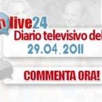 Diario della Televisione Italiana del 29 Aprile 2011