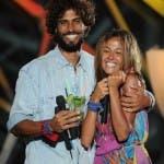 La vincitrice dell'Isola 8, Giorgia Palmas, con Thyago Alves