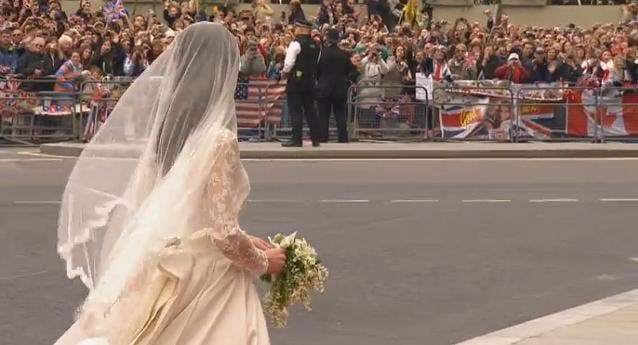 Royal Wedding: Kate Middleton at Westminster Abbey 5