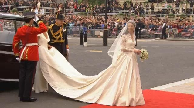 Royal Wedding: Kate Middleton at Westminster Abbey 6