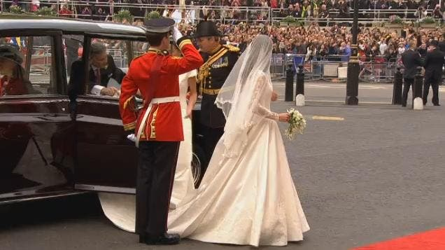 Royal Wedding: Kate Middleton at Westminster Abbey 7