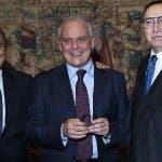 Bruno Vespa, Mauro Mazza e Pippo Baudo