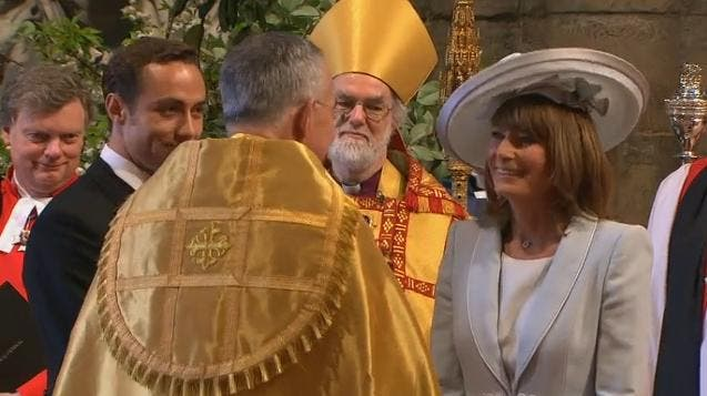Royal Wedding: la Mamma di Kate Middleton a Westminster Abbey