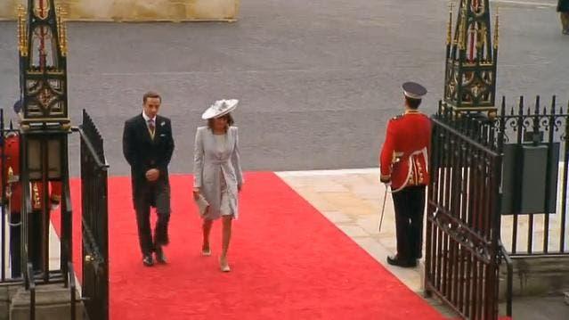 Royal Wedding: la Mamma e il fratello di Kate Middleton a Westminster Abbey