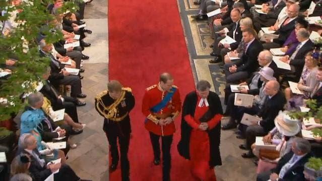 Royal Wedding: il Principe William e il Principe Henry arrivano a Westminster Abbey 1