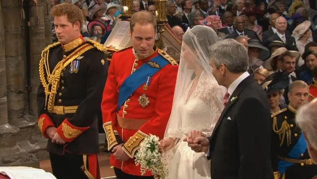 Royal Wedding: il Principe William e Kate Middleton at Westminster Abbey