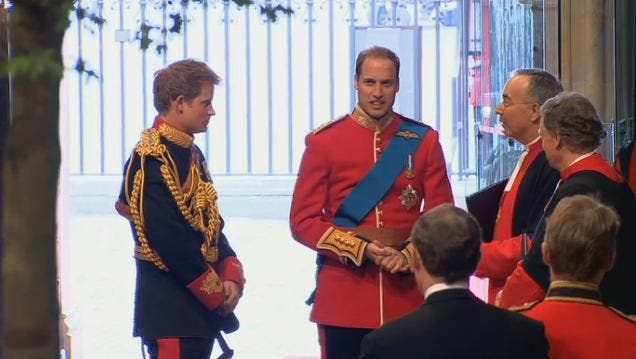 Royal Wedding: il Principe William at Westminster Abbey