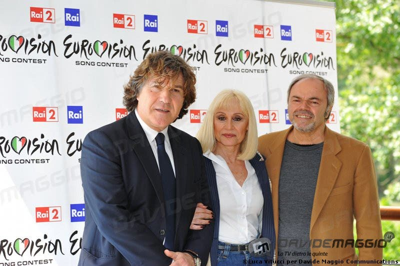Eurovision Song Contest 2011: Massimo Liofredi, Raffaella Carrà e Sergio Japino 2