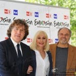 Eurovision Song Contest 2011: Massimo Liofredi, Raffaella Carrà e Sergio Japino