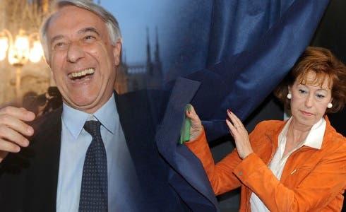 Giuliano Pisapia e Letizia Moratti (da Sky TG24)