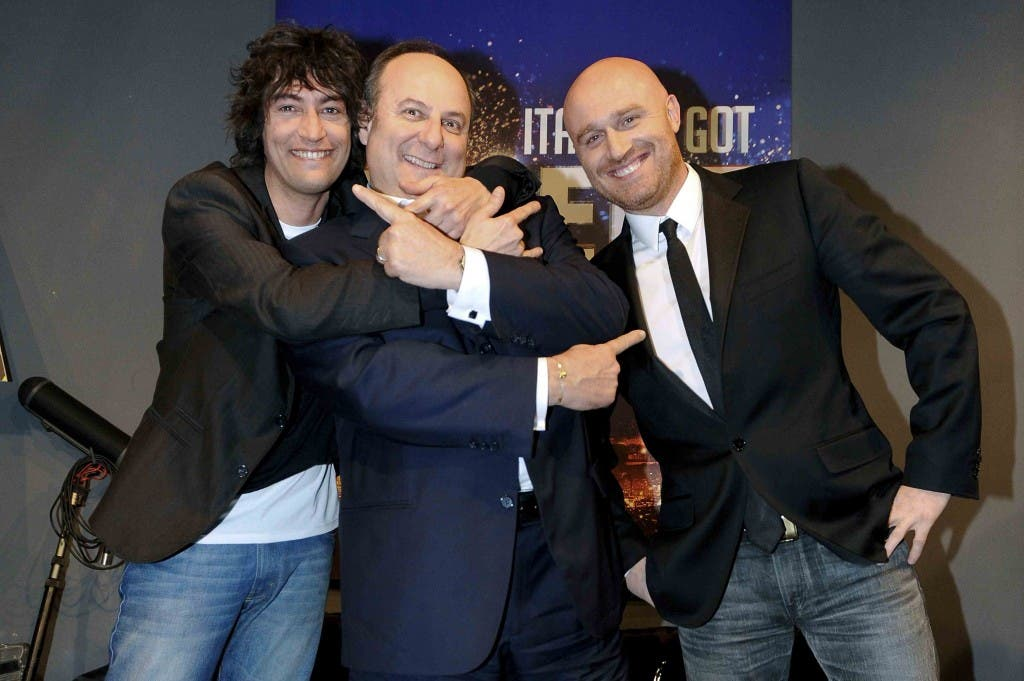 Italia's Got Talent 2: Simone Annichiarico (sx), Gerry Scotti e Rudy Zerbi