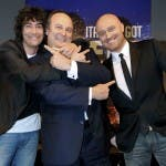 Italia's Got Talent 2: Simone Annichiarico (sx), Gerry Scotti e Rudy Zerbi