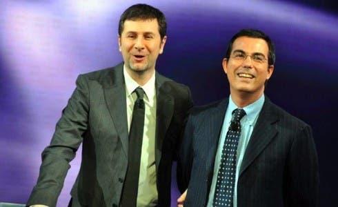 Fabio Fazio e Giovanni Floris