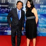 Mediaset Night 2011 Red Carpet - Piero Chiambretti e compagna