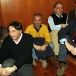 Carlo Freccero con Michele Santoro, Marco Travaglio e Gad Lerner