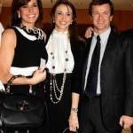Cristina e Benedetta Parodi con Giorgio Gori