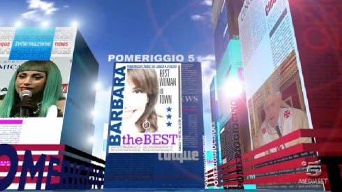 """Barbara D'urso """"the best woman in town"""" nella sigla di Pomeriggio5"""