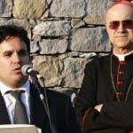 """Marco Simeon con il """"maestro"""" Tarcisio Bertone"""