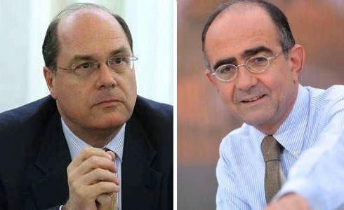 Claudio Cappon e Giancarlo Leone
