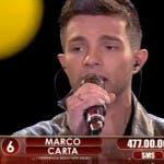 Marco Carta eliminato