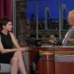 anne hathaway david letterman