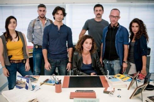 Beniamino Catena e il cast di Squadra Antimafia 4