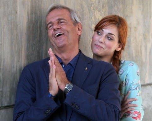 Enrico Bertolino e Miriam Leone